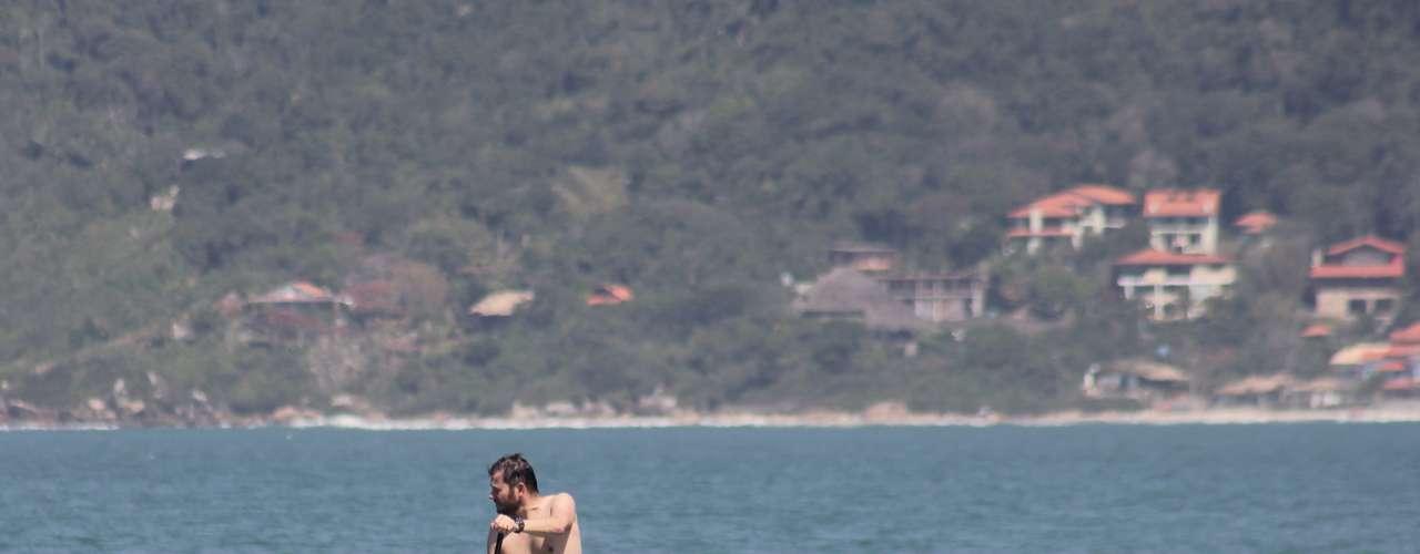 15 de setembro - Domingo ensolarado foi ideal para a prática de esportes aquáticos em Santa Catarina