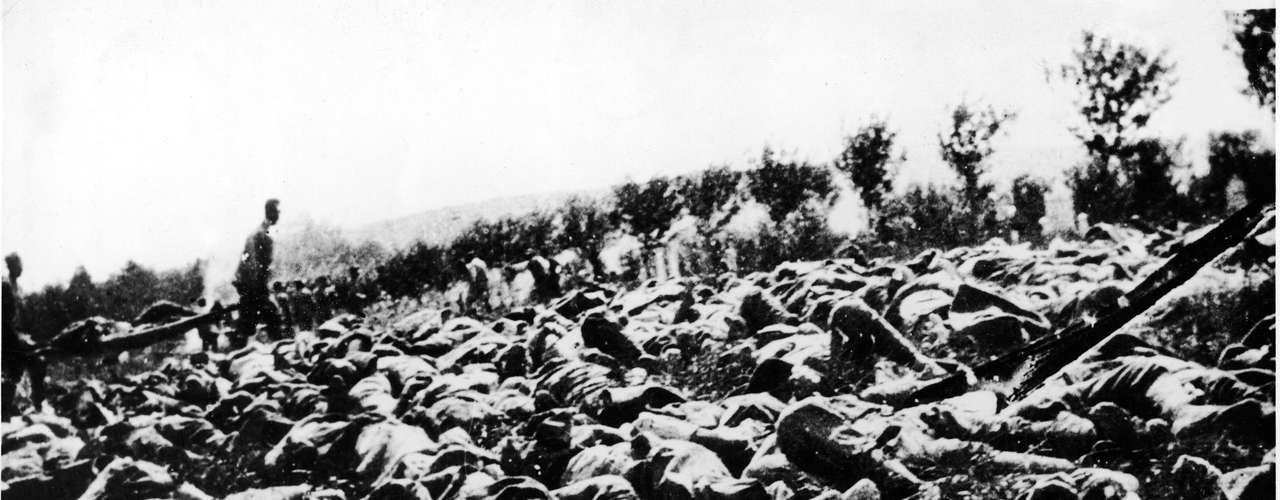 1915: centenas de soldados italianos foram mortos por gás durante a Primeira Guerra Mundial