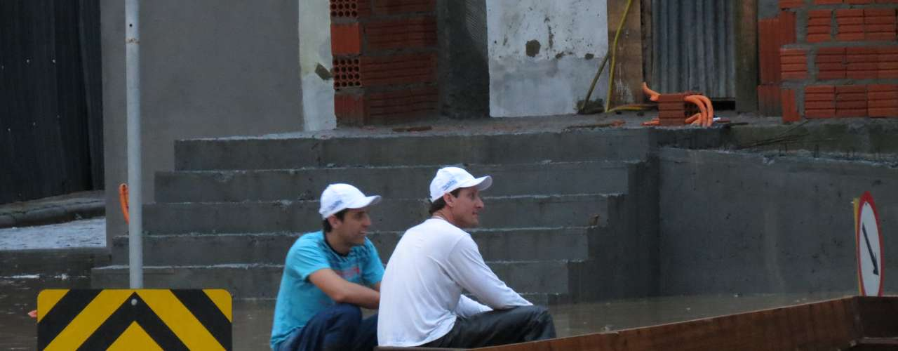 23 de setembro -A cidade de Blumenau, em Santa Catarina, foi castigada pelas fortes chuvas que atingem o Estado desde a semana passada