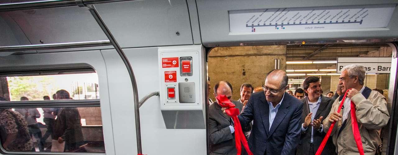 O governador de São Paulo, Geraldo Alckmin (PSDB), autorizou nesta segunda-feira o início das obras de implantação da Linha 13-Jade