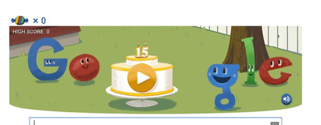 27 de setembro - Homenagem aos 15 anos do Google