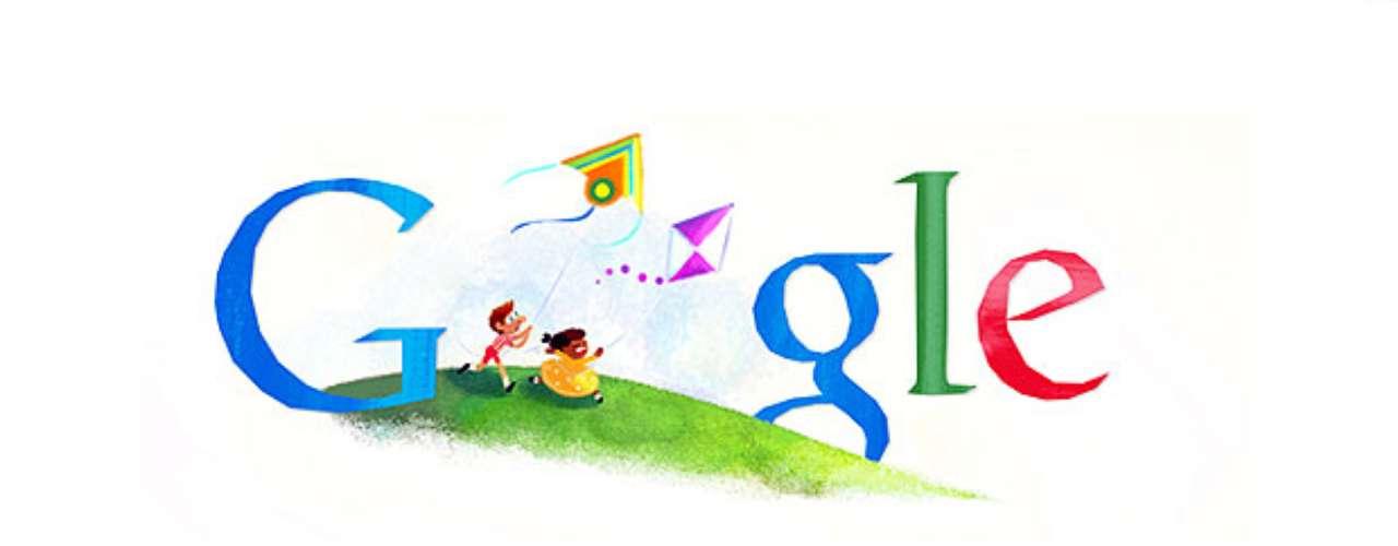 12 de outubro - Google faz homenagem ao Dia das Crianças em sua página de buscas no Brasil