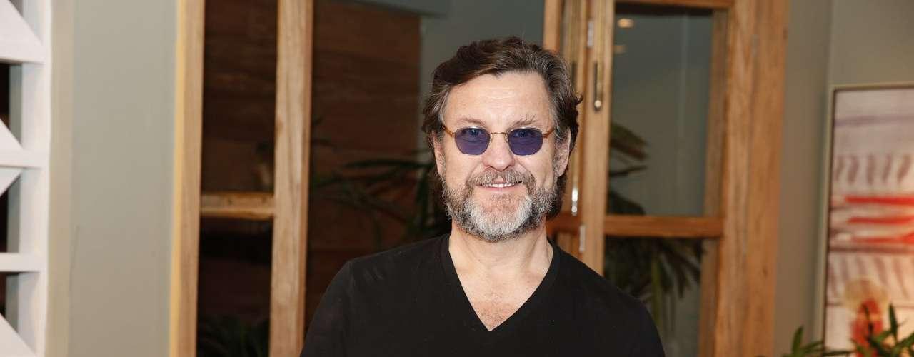 O elenco de 'Além do Horizonte' participou da coletiva de imprensa da nova novela das sete, da Globo, nesta terça-feira (15). Na foto, Antonio Calloni