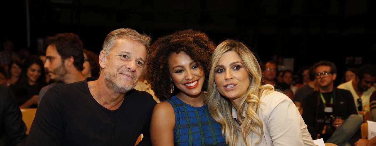O elenco de 'Além do Horizonte' participou da coletiva de imprensa da nova novela das sete, da Globo, nesta terça-feira (15). Na foto, Marcello Novaes