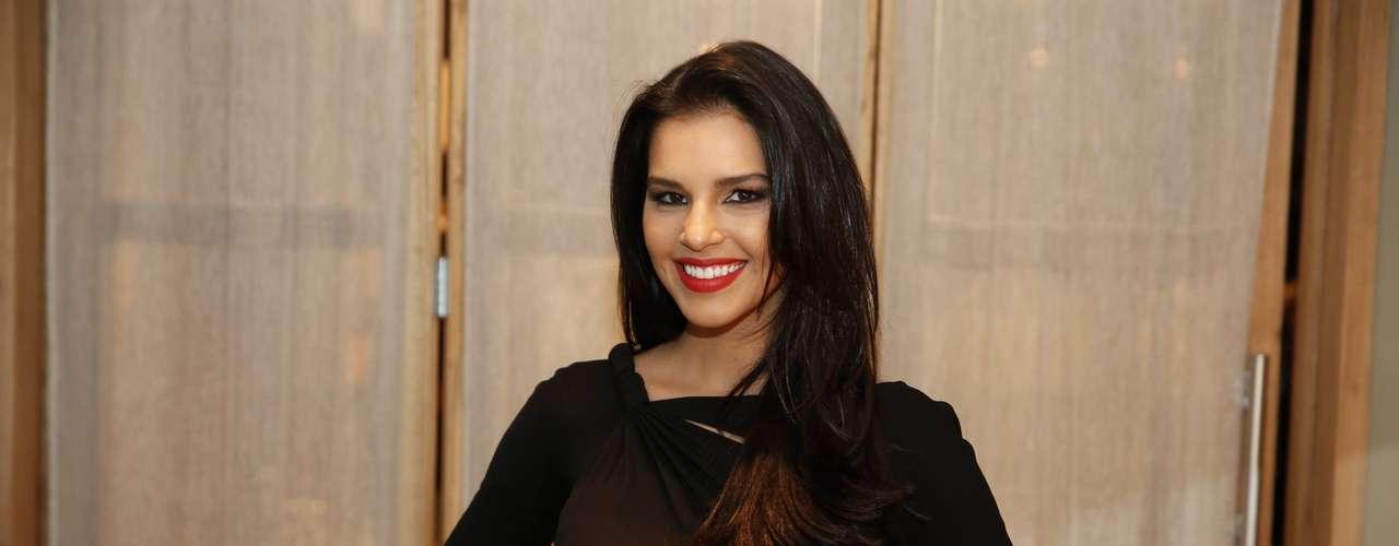 O elenco de 'Além do Horizonte' participou da coletiva de imprensa da nova novela das sete, da Globo, nesta terça-feira (15). Na foto, Mariana Rios