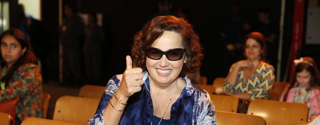 O elenco de 'Além do Horizonte' participou da coletiva de imprensa da nova novela das sete, da Globo, nesta terça-feira (15).Na foto, Claudia Jimenez