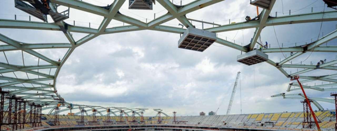 22 de outubro: A Arena da Amazônia atingiu nesta semana o índice de 86,98% de conclusão