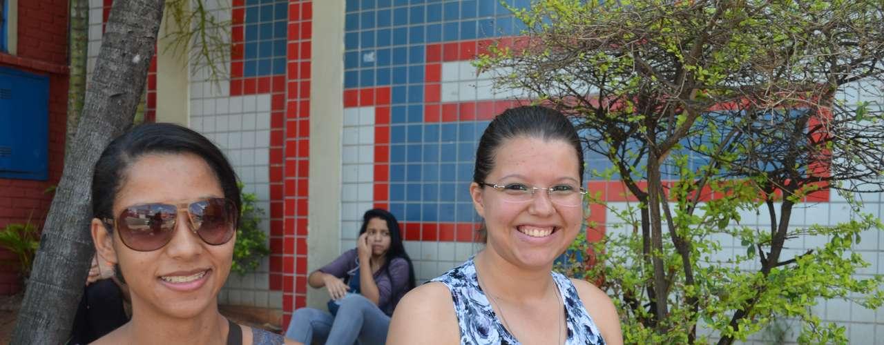 Goiânia - Sabrina Wust (dir.) espera ir melhor nas provas de hoje