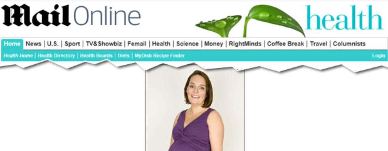 Rebbeca Williams, 34 anos, está grávida do terceiro filho e tem uma chance em 15 de ter um infarto. Ela sofre de enxaqueca e pressão alta, mas não usa medicamento e mantém a sáude com dieta e exercícios físicos