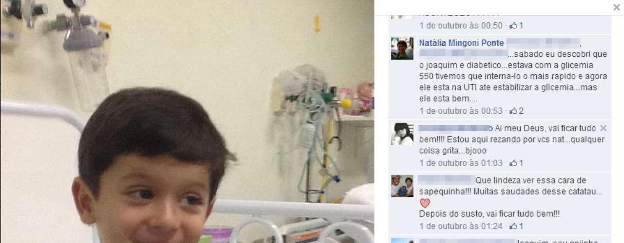 Em 1º de outubro, a mãe de Joaquim publicou uma foto do menino no hospital, quando foi descoberto que ele possuía diabetes