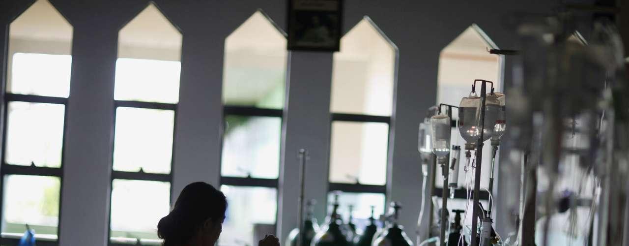13de novembro-Em meio ao trauma do tufão, muitas mulheres deram à luz antes do previsto agravando a situação
