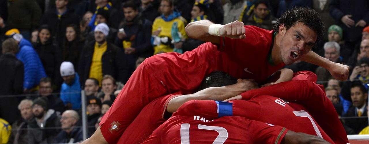 Portugal- vencedor da repescagemdas Eliminatórias Europeias sobre Suécia