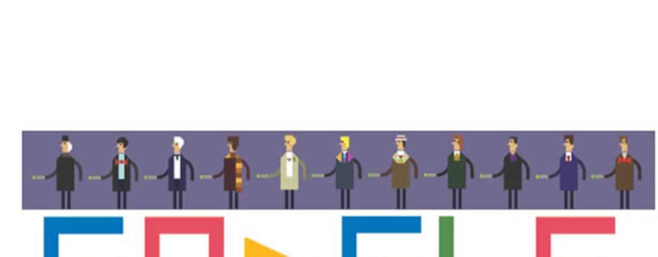 22 de novembro - Doodle homenageia os 50 anos da série de ficção científica Doctor Who