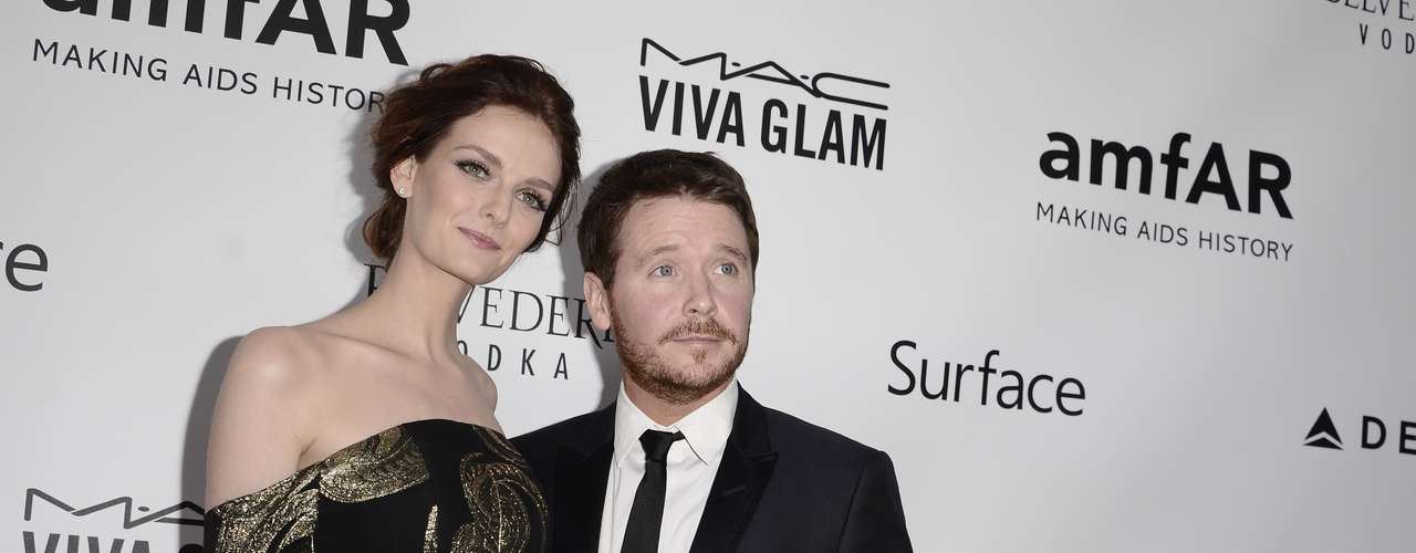 O ator Kevin Connolly e a mulher, Lydia Hearst
