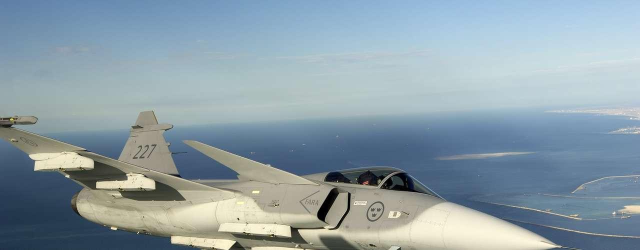Gripen -Segundo a fabricante, caça tem melhor rastreamento de alvo
