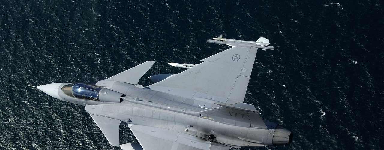 Gripen -Segundo a fabricante, caça tem amplo campo visual