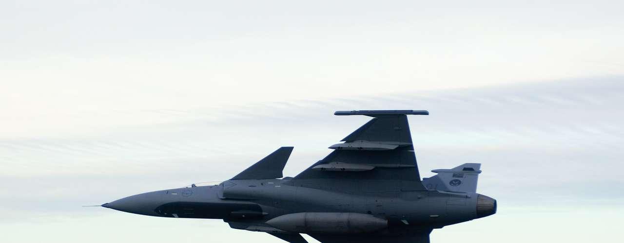 Gripen -Segundo a fabricante, caça tem maior disponibilidade operacional e menores custos de ciclo de vida