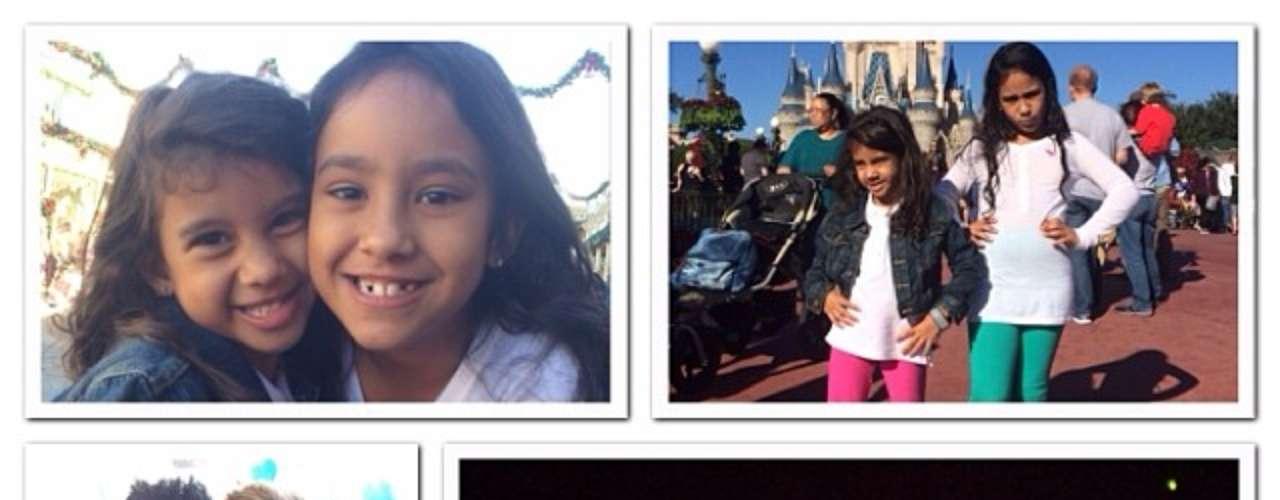 Léo Moura foi para a Disney com a família