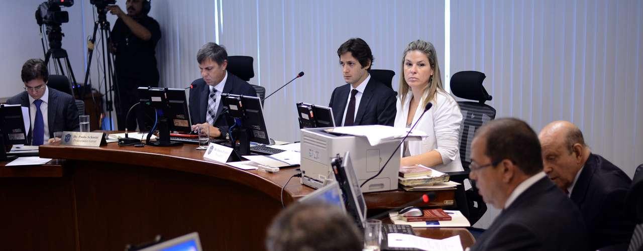 Pleno do STJD momentos antes do início do julgamento daPortuguesa