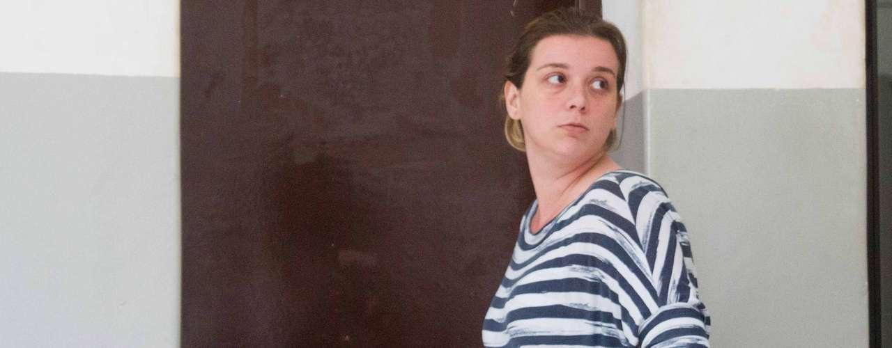 6 de janeiro - Natália Ponte na Delegacia de Investigações Gerais (DIG), em Ribeirão Preto, antes de ser encaminhada ao presídio. A Justiça aceitou o pedido de prisão preventiva feito pelo Ministério Público contra ela e Guilherme