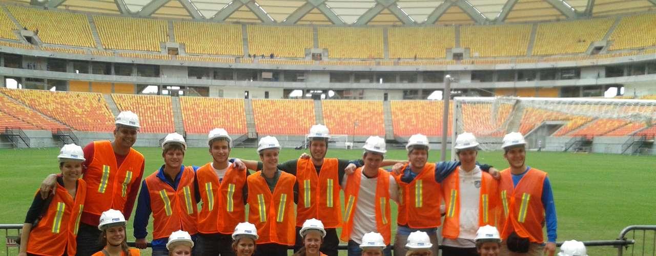 30 de janeiro: estudantes da Universidade de Iowa, dos Estados Unidos, visitaram Arena Amazônia