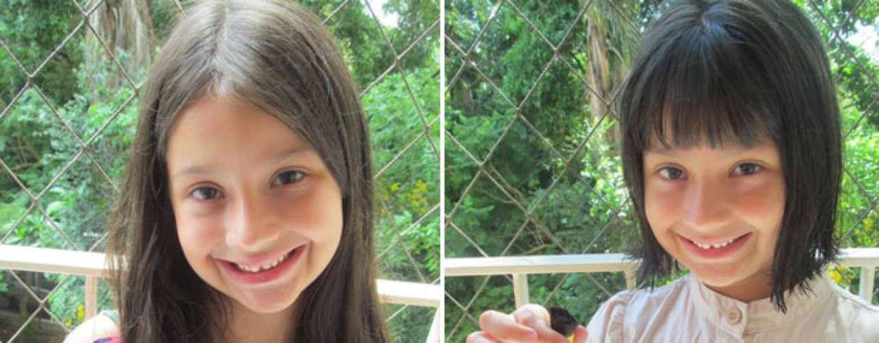 Aninha doou o cabelo ao projeto no dia que completou seis anos de idadeao projeto Rapunzel Solidária, que atua em prol de mulheres com câncer