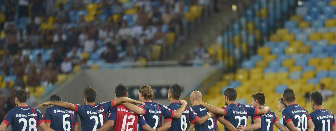 Jogadores do San Lorenzo estrearam na Copa Libertadores do Maracanã