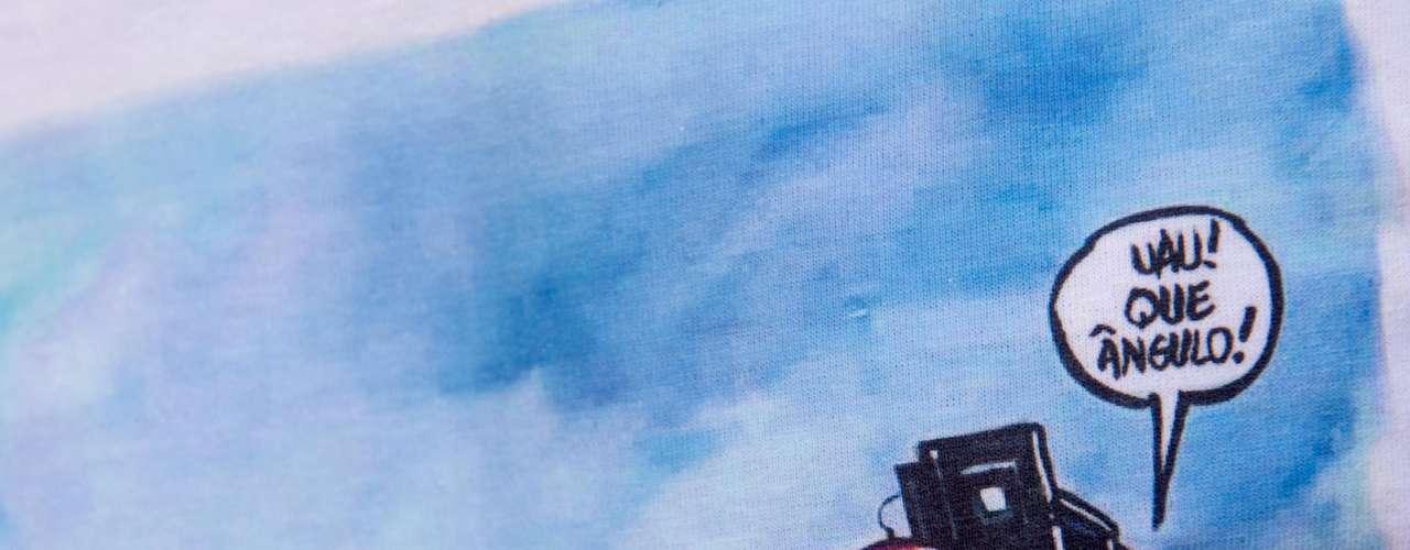 13 de fevereiro - Cinegrafistas da Band também usaram uma estampa na camiseta em homenagem ao amigo