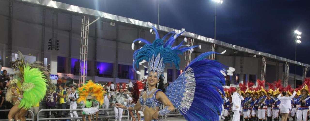 O desfile da escola fechou as apresentações do Grupo Especial do Carnaval de São Paulo, que começou sexta-feira