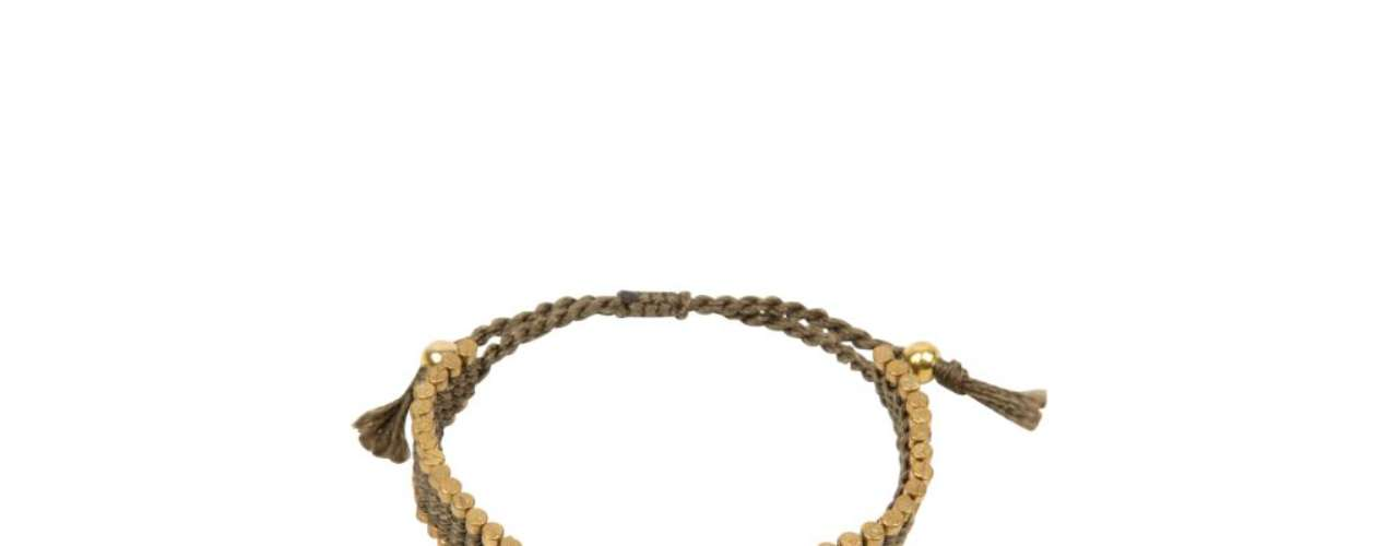 Pulseira dourada Riachuelo. R$ 15.90. SAC: 3003-4342