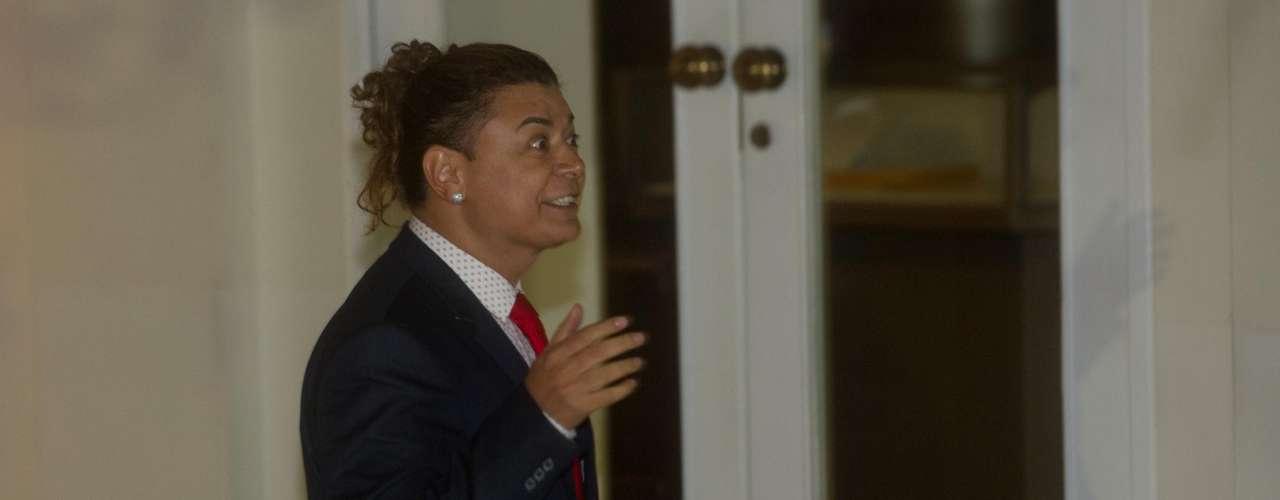 O promoter David Brazil também marcou presença na festa
