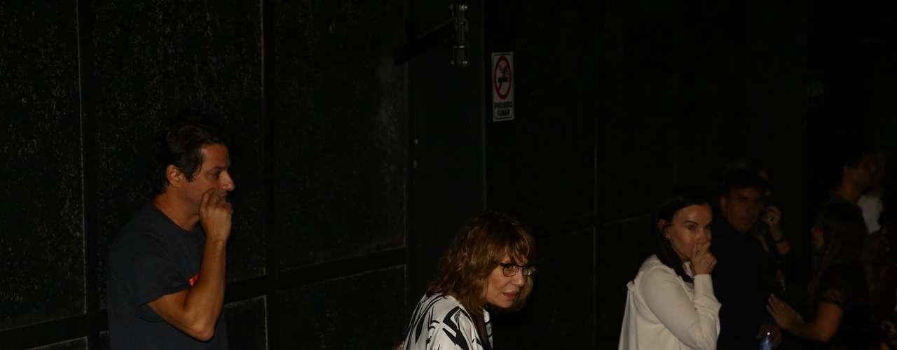 Atriz Renata Sorrah no velório de José Wilker