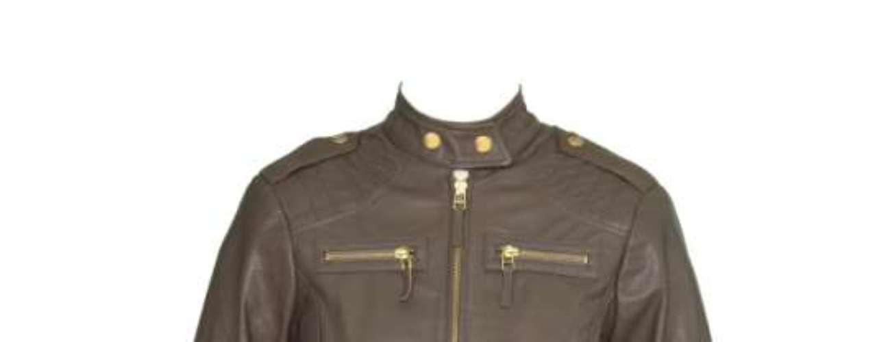 Jaqueta de couro preta Lança Perfume, R$1749,90. Serviço: 03001406900