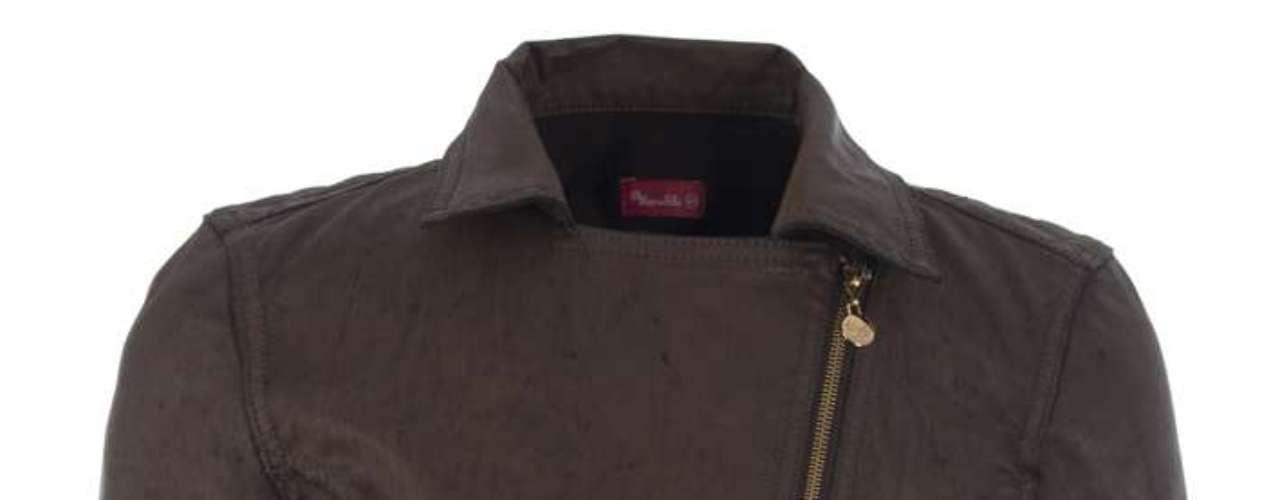 Jaqueta de couro Maria Filó, R$399,00. Serviço: 11 30244360