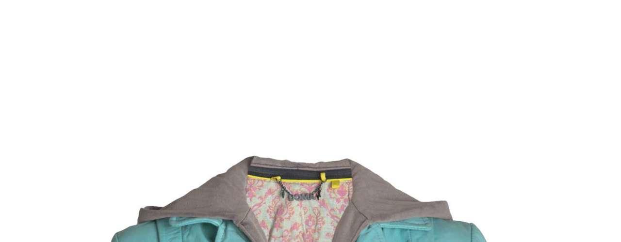 Jaqueta de couro azul Doma para Shoulder, R$2190,00. Serviço: www.shoulder.com.br. 11 33660010