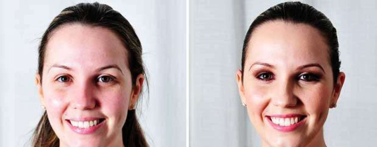 Compare o rosto antes e depois do trabalho do profissional