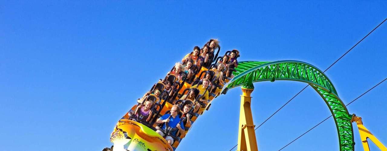 23. Busch Gardens Tampa Bay, Estados Unidos: parque temático voltado para o continente africano e com mais de 2.700 animais, Busch Gardens é um dos principais zoológicos dos Estados Unidos. Além de animais, o parque, que teve mais de 4 milhões de visitantes em 2011, conta com montanhas-russas como a Kumba, que chega a 44 metros de altura e tem sete loopings