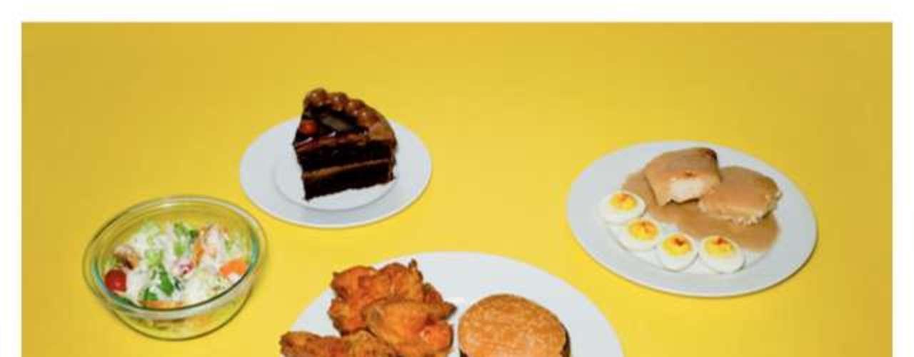 Salada, ovos, sanduíches, batata frita e frango frito estiveram no menu de um dos presos