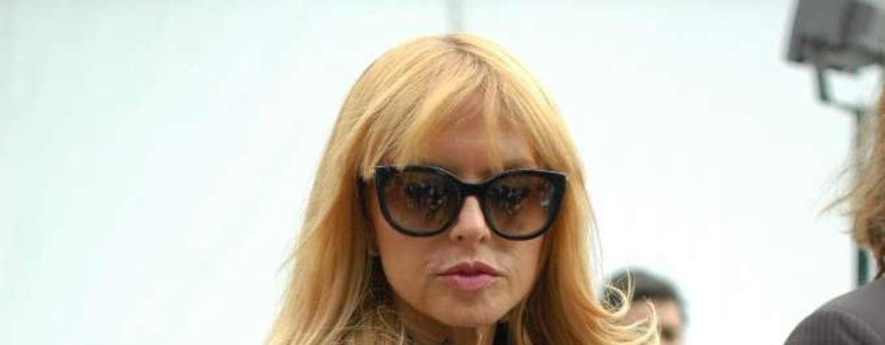 A stylist americana Rachel Zoe após o desfile da Louis Vuitton