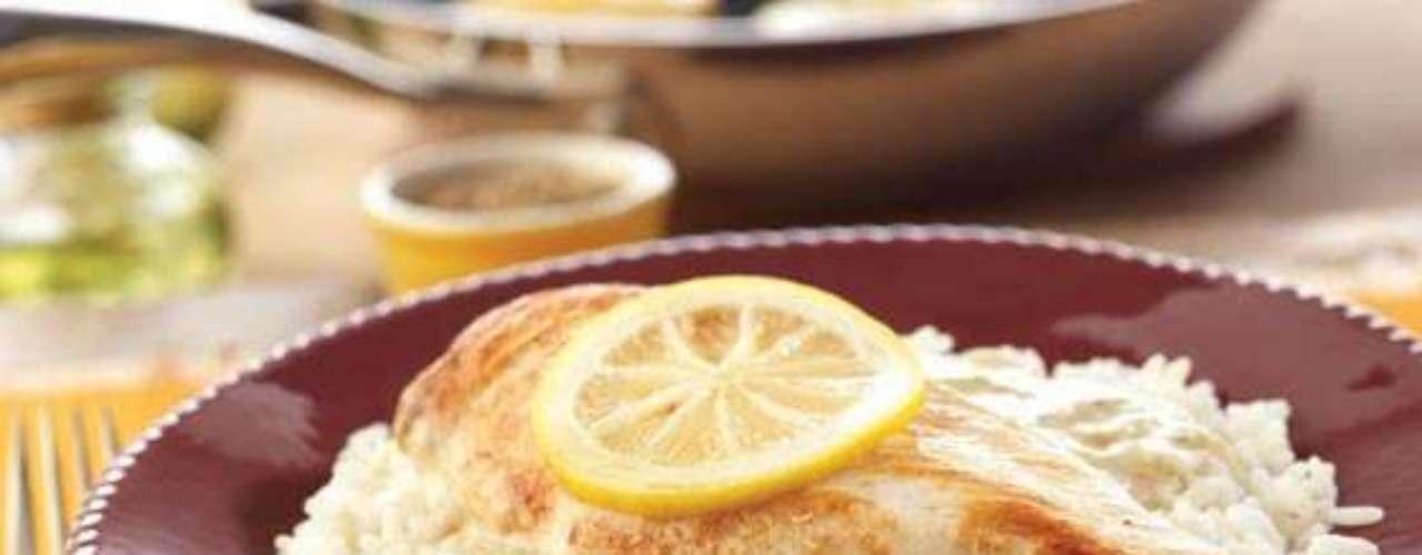 Frango com limão e brócolis