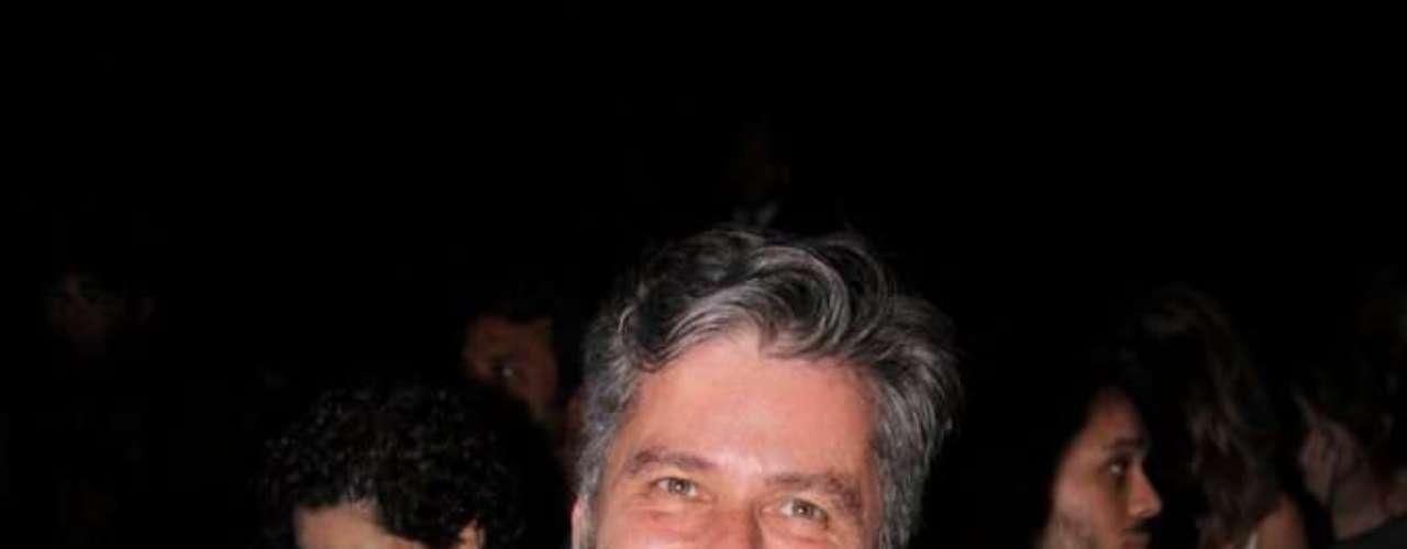 Leopoldo Pacheco, ator, também foi prestigiar a grife na 34ª edição do evento