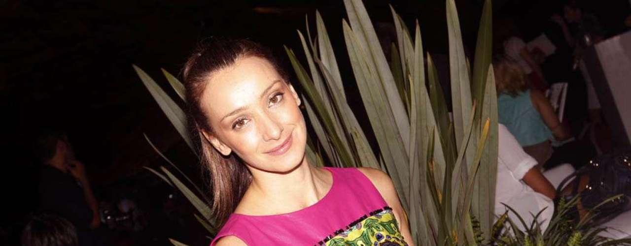 Sabrina Parlatore também foi ao Villa-Lobos, que é palco desta edição do evento, para assistir ao desfile do estilista