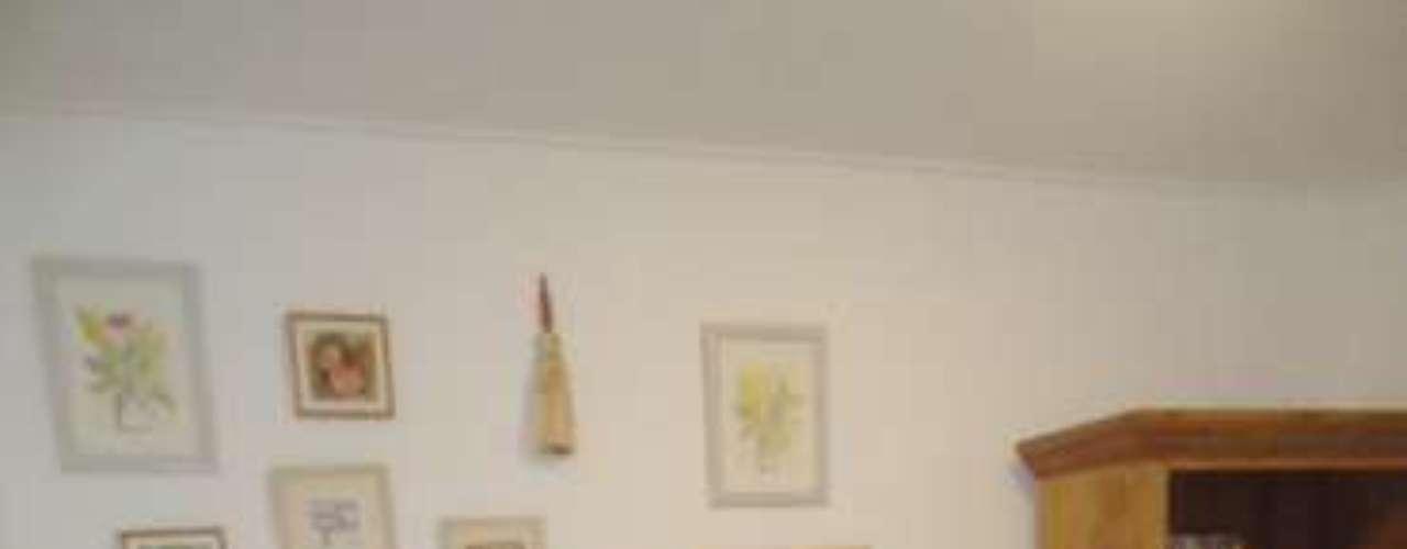 O tapete de linha é simples, mas um clássico do estilo \