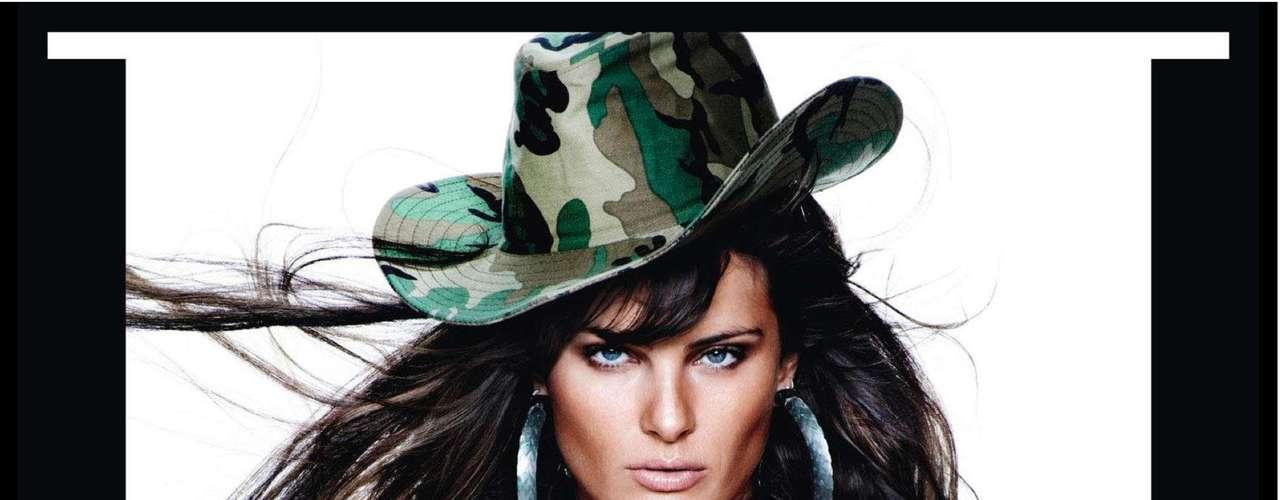 A brasileira Isabeli Fontana também integrou o time de modelos de primeiro escalam clicadas por Testino