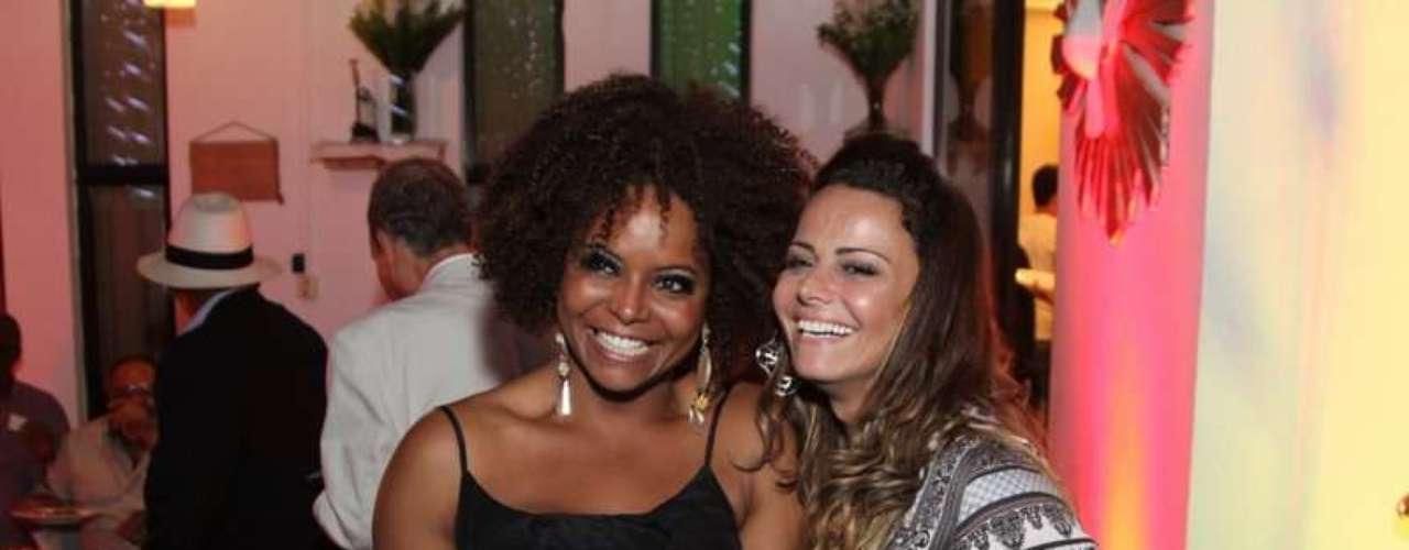 Bombom e Viviane Araújo