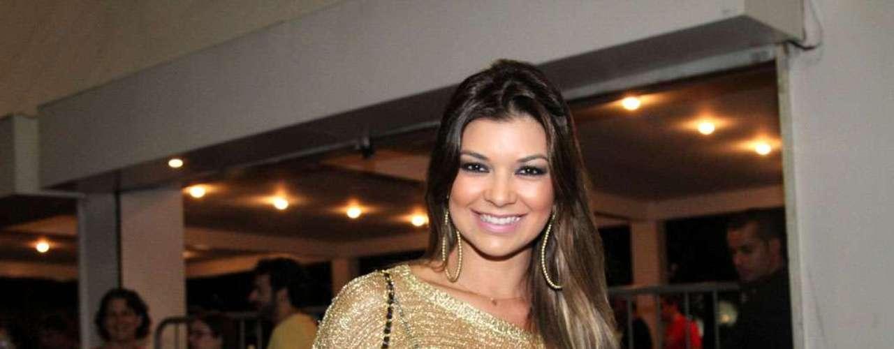 Amanda Françoso no show de Ivete Sangalo