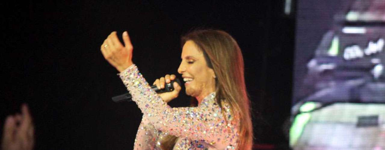 A cantora empolgou os paulistas