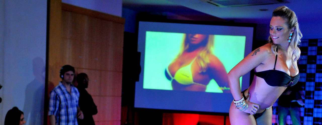 Priscila Freitas, do Rio de Janeiro, mostrou os atributos ao jurados do concurso