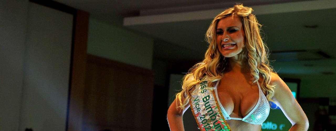 Andressa Urach, ex-latinete, que representava Santa Catarina, ficou com o segundo lugar