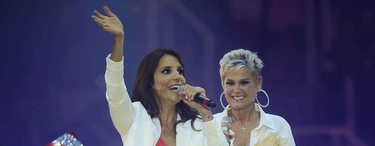 Ivete Sangalo participou do show